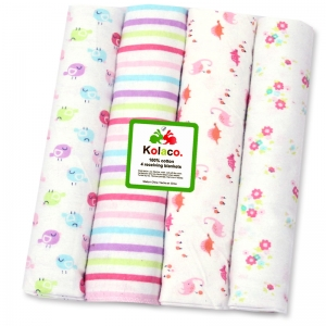 4 flannel blankets 102*76cm